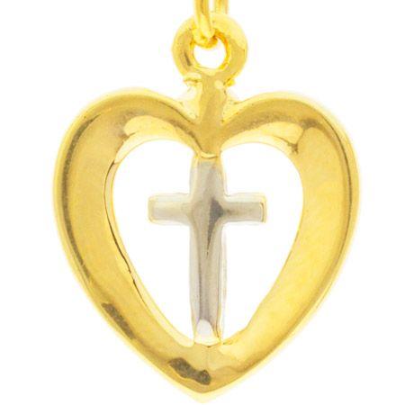 Heart with Cross Chain Bracelet