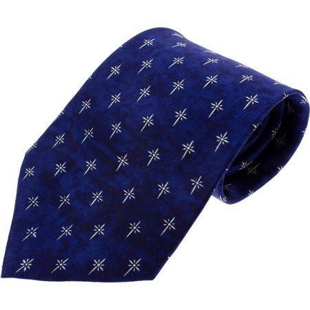Christian Cross Necktie (Blue)