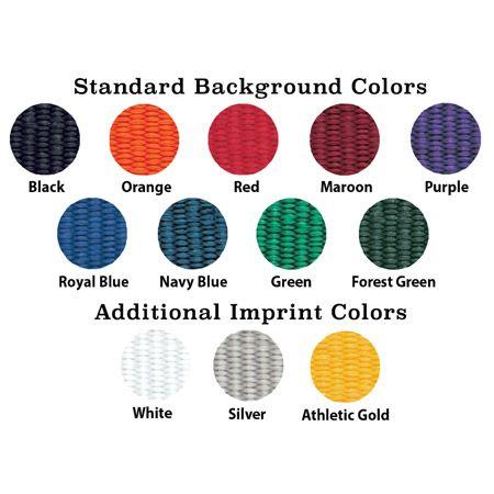 Custom Woven Premium Bracelet Color Palette