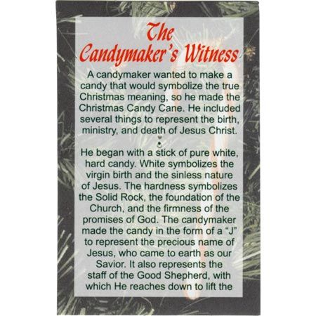 Candy Cane Witness Card - Front