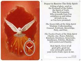 Pray to Receive Holy Spirit Holy Card