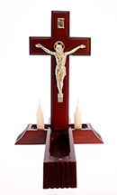 10 inch Dark Cherry Sick Call Crucifix Salerni Corpus