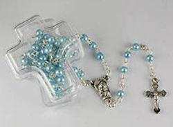 Pearl Rosary In Cross Box