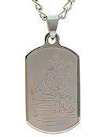 Saint Christopher Dog Tag Necklace