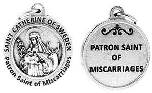 St Catherine of Sweden Patron Saint of Miscarriages Charm