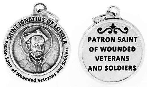 St Ignatius of Loyola Patron Saint of Wounded Soldiers Charm