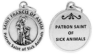 St Francis Patron Saint of Sick Animals Charm