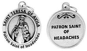 St Teresa Patron Saint of Headaches Charm