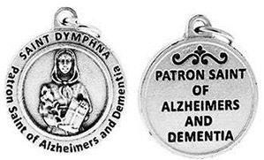 St Dymphna Patron Saint of Alzheimers Charm