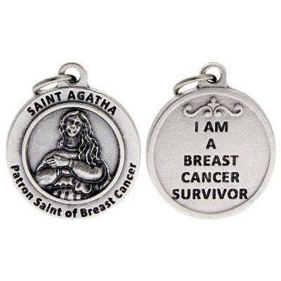 St Agatha Patron Saint of Breast Cancer Charm