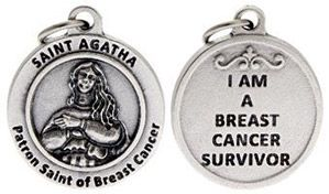 St Agatha Patron Saint of Breast Cancer Charm