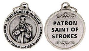 St Andrew Avellino Patron Saint of Strokes Charm