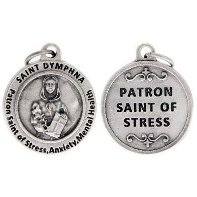 St Dymphna Patron Saint of Stress and Anxiety Charm