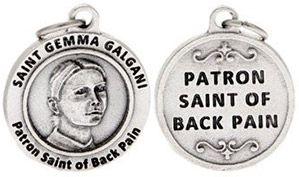 St Gemma Galgani Patron Saint of Back Pain Charm