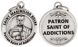 St Maximilian Kolbe Patron Saint of Addictions Charm