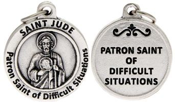 St Jude Patron Saint of Difficult Situations Charm