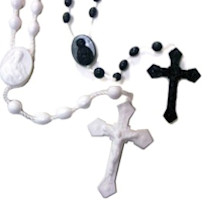 Plastic Rosary Corded Inexpensive (Pkg of 20)