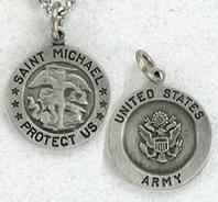 Saint Michael Army Medal Necklace