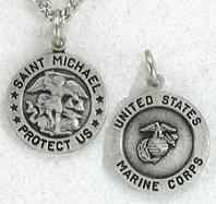 Saint Michael Marine Corps Medal Necklace
