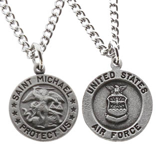 Saint Michael Air Force Medal Necklace