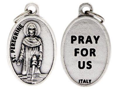 St.  Peregrine Cancer Medal Charm