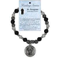 St Peregrine Saint of Cancer Beaded Bracelet