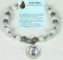 St Giles Saint of Disabled Beaded Bracelet
