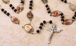 Stations of the Cross Rosary with Brown Rosary Beads