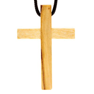 Olive Wood Cross Necklaces (Pkg of 12)