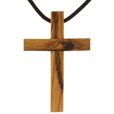 Real Oilve Wood Cross necklace pendant