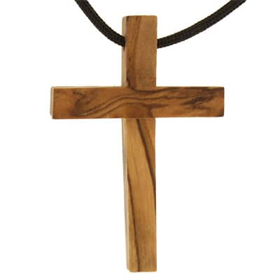 Real Oilve Wood Cross pendant necklace