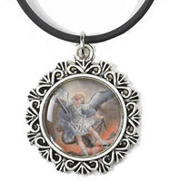 St. Michael Picture Necklace, Police, Soldier