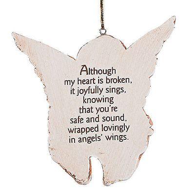 Prayer Memorial Angel Ornament - Back