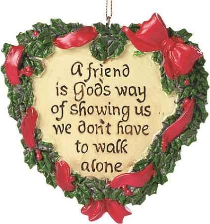 A Friend is God's Way Wreath Ornament