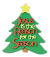 Jesus is the Reason for the Season Tree Ornament