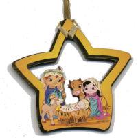 Christmas Star Youthful Manger Scene Ornament
