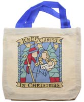 Canvas Tote Gift Bag <br> Keep Christ in Christmas