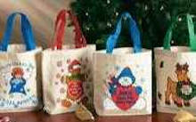 Christmas cloth bags