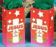 Jesus is the Center of the Season Christmas Bags