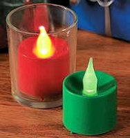 Flameless Holiday Votive Lights