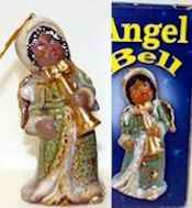African American Angel Bell Ornaments