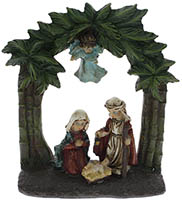 Holy Family Manger Christmas Ornament