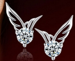 Elegant Angel Wings Ear Stud Quality Jewelry  Women