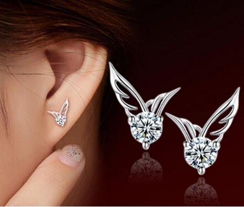 Elegant Angel Wings Ear Stud Quality Jewelry  Women