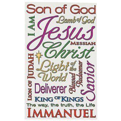 Names of Jesus Ornament Card
