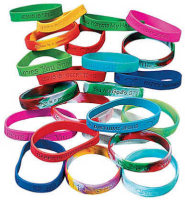 Assorted Christmas Silicone Bracelets
