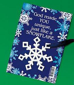 Snowflake Christmas Ornament on Gift Card