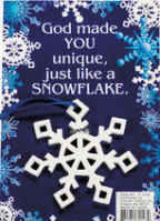 Snowflake Christmas Ornament on Gift Card
