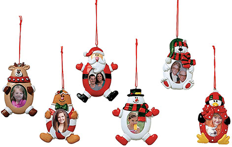 Christmas Characters Photo Frame Tree Ornaments