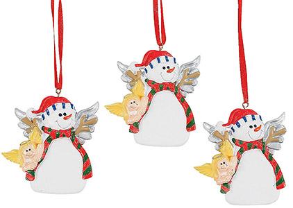Snowman Angel Ornaments Resin